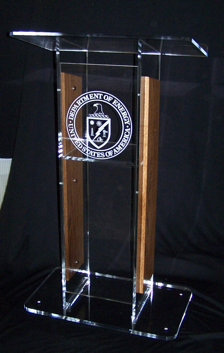 Acrylic Podium Acrylic Pulpits Custom Logo Acrylic Lectern