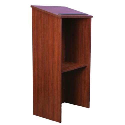 Full Height Wood Lectern One Piece Stand Up
