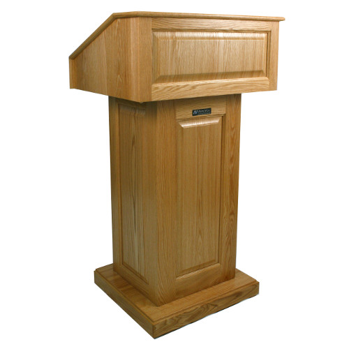 Victoria Lectern – Solid wood podium, drop top reading surface