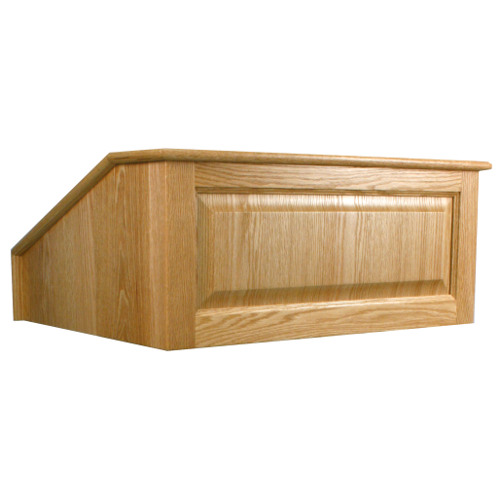 victoria tabletop lectern – desktop podium, wood raised panels