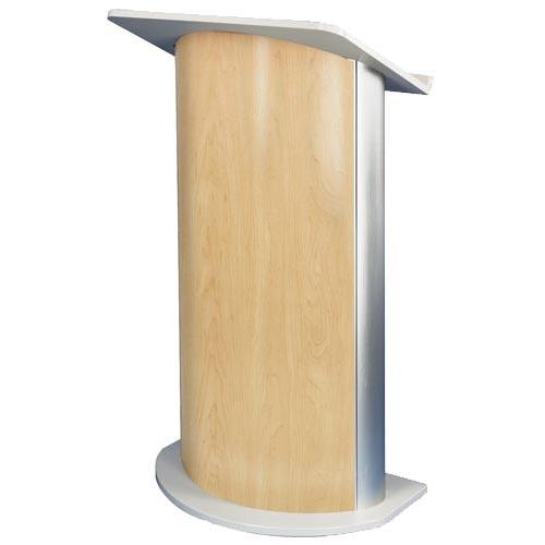 Curved Hardrock Maple Lectern Stylish Contemporary Podium